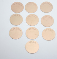 Wholesale Mixed Words Rose Gold L Stainless Steel Plates for mm Floating Charm Lockets