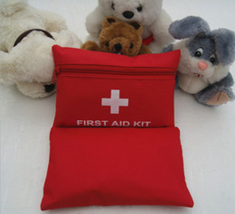 Wholesale Emergency Survival FIRST AID KIT Bag Treatment Pack Travel Sports Medical Red L168