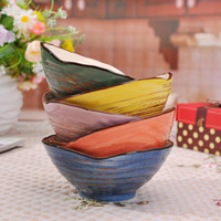 Wholesale Japanese style shell bowl rice bowl ceramic bowl set tableware