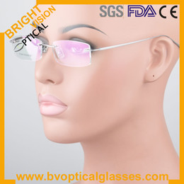 Wholesale High quality rimless optical frame for man in stock