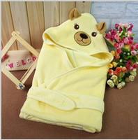 Jacquard bathing receiving blanket - BY13 Top Cute Warm Coral Fleece Soft Baby Washcloth Blanket Quilt for Infant Bathing Towel Receiving Blankets