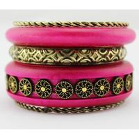 Wholesale Vintage Bracelets Wood Carving Flower Pattern Multi Bangle Jewelry VB