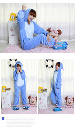 Wholesale Hot Sale lovely Blue Stitch New Kigurumi Pajamas Animal Cosplay Costume unisex Stock