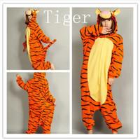Regular animal pajamas onesies - Hot Sale lovely Orange Tigger New Kigurumi Pajamas Animal Cosplay Costume unisex Stock