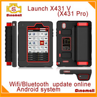 Engine Analyzer car tools - 2014 Launch X431 V Diagnostic Tool X431 Pro Wifi Bluetooth Android OS online update support USA EU Asian cars Diagun IV GIFT creader VI