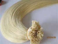 Cheap Brazilian Hair flat tip extension Best #613 Blonde Straight brazilian virgin hair