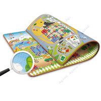 Wholesale Baby Kids Children Airplane Chess Game Two sided Crawling Pad Beach Picnic Mats Outdoor Blanket