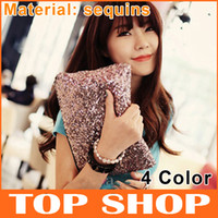 Wholesale Evening Clutch Bags Sequins Color Cheap Small Paillette Zipper Free Shiping Dinner Handbags