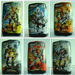 Wholesale 18pcs Decool Hero Factory Plastic bucket canned fit STYLES C assembly robot Warrior