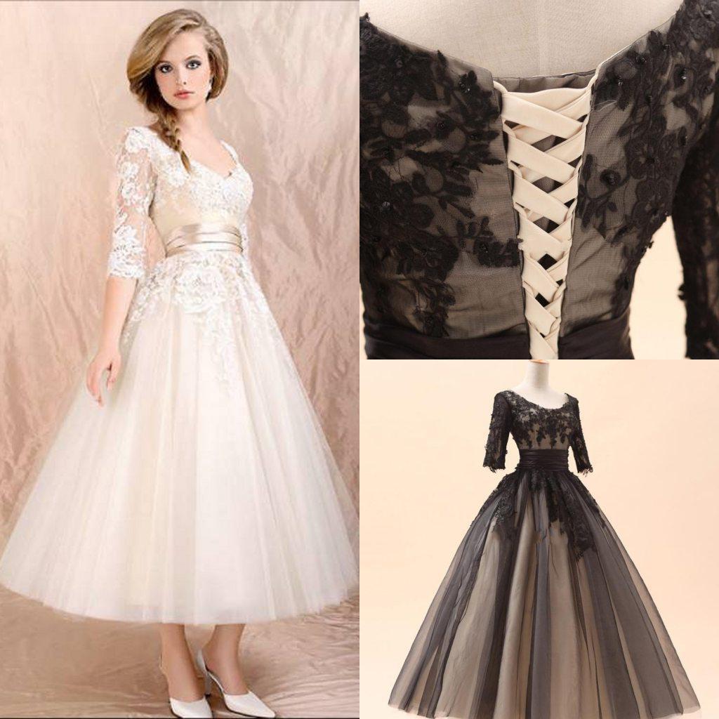 2014 Hot Selling Elegant Jewel Half Sleeve Lace A Line