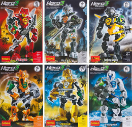 Wholesale 48pcs Decool Hero Factory Plastic bucket canned fit STYLES C assembly robot Warrior