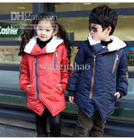Wholesale Boys girls inclined zipper winter cotton padded clothes children size bd cotton padded clothes coat