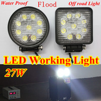 Wholesale 27W car LED Working Light Flood Lamp Motorcycle Tractor Truck Trailer SUV JEEP V WD pieces