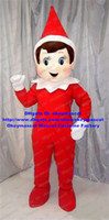 Wholesale Elf Elf on the Shelf Mascot Costume Adult Size Cartoon Character Mascotte Outfit No Free Ship
