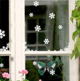 Wholesale Christmas Snowflake Wall Stickers the windows paste cabinet stickers Christmas decoration stickers T90173