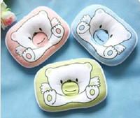 Wholesale BY14 Cotton Little Bear Cute Baby Pillow Infant Cotton Foam Pillow