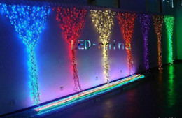 Curtain Fairy christmas string Icicle LED Xmas garden wedding lights 1.8mm wire IP14