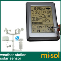 Wholesale Pro Wireless Weather Station Touch Panel w Solar sensor w PC interface