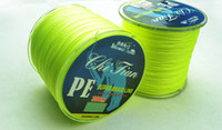fishing floats - 300M strands YELLOW PE BRAID FISHING LINE fishing tackle Floating Line lbs lbs
