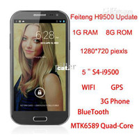 "Android 5.0 Android Wholesale - Feiteng H9500 S4 8GB ROM Version GT-i9500 MTK6589 Quad Core 1.2Ghz Android 4.2 5"" mobile phone(113090504)"