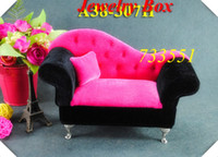 Wholesale Sofa Design Fashion jewelry Accessories box plate stud earring storage box wedding gift birthday cases A4