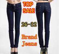 Wholesale Freeshipping Fashion Brand Mid Waist Womens jeans Pencil Skinny Denim Sexy Straight Jeans Also winter jean for women