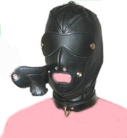 Wholesale 2013 NEWEST PVC SLEAVE Head bondage fully enclosed fun headgear masks sex games Hoods amp Muzzles BDSM game for couples