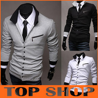 Wholesale Foreign Mens long sleeve knit cardigan sweater export menswear fashion lapel