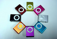 Wholesale mini clip mp3 player metal clip mp3 with TF slot MP3 USB Earphone Box Best Gift for Xmas