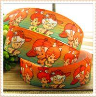 Wholesale mm Cartoon Series printed Grosgrain ribbon Polyester Cartoon Ribbon DIY haribow garment accessory CT0060