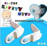 Wholesale Hot Sale New Baby Maternity Series rectangular door lock security lock drawer refrigerator lock corner protection