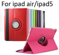 Wholesale case for ipad air degree Rotating PU Leather Cover Case for ipad ipad ipad air smart stand MOQ