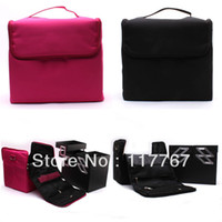 Wholesale makeup case professional Pro Beauty LUXURY LEATHER Makeup Nail Cosmetic Salon Box Vanity Case Bags