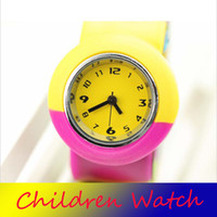Wholesale Silicone dazzling Wristwatches Children Wristwatches Children Slap Wristwatches Kids Watches Students Watches