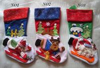 Wholesale Christmas Stocking Xmas decoration stocking Christmas gift bag