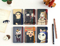 Boys' bathing oil paintings - Children s stationery D37 Vintage cat oil painting high quality notebook Journal diary notebook Notepads diary planner bookdandys