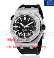 Men's Analog  Factory Supplier AAA Top Quality Wristwatch Luxury Diamond Diver Royal Oak Offshore Black Rubber Automatic Mens Watch Men's Watches