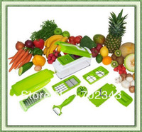 Wholesale 24SETS FREE FEDEX Vegetables Fruits Dicer Food Slicer Cutter Containers Chopper Peelers Set of kitchen Tools