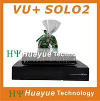 Wholesale Twin tuner internet sharing dvb s2 linux engima3 tv receiver Vu solo2 for Europe Original Factory