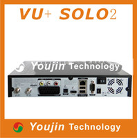 Receivers 数字卫星机顶盒  Enigma2 Linux OS Vu Solo2 Twin Tuner 1300 Mhz Digital Satellite TV Receiver Vu Solo 2 Twin Tuner Dvb-s2 Vu+Solo 2 Free shipping