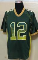 Wholesale Cheap American Football Jerseys Men s Aaron Rodgers White Green Drift Fashion Elite Jerseys Football Jerseys Mix Order