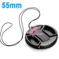 Wholesale 55mm New Center Pinch Lens Cap Cover for Canon Nikon Sony pentax front cap