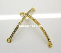 Wholesale 10Pcs Golden Plated Rhinestone quot quot Connectors Fit Shamballa Bracelet x3mm
