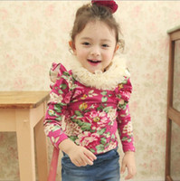 Children Clothing Flouncing Long Sleeve Flower Mandarin Coll...