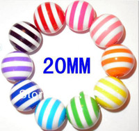 Wholesale Strip resin Chunky beads loose beads mixed Color MM for DIY fashion Children s Jewelry Accessories