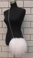 Wholesale Beach wool fur bag handbag shoulder bag Messenger bag chain retro cute plush bag small bag handbags