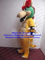 Wholesale Super Mario Bros King Bowser Mascot Costume Cartoon Character Mascotte Outfit Suit No Free Ship