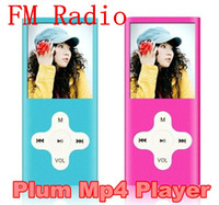 Wholesale 8GB th gen quot LCD Plum Cross Button MP4 Mp3 Music Player With FM Radio Video with accessories DHL