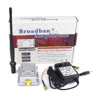 al por mayor wifi wireless broadband amplifiers-Venta al por mayor - Amplificadores de banda ancha inalámbricos de 2W WiFi Router Power Range Signal Booster Antenna