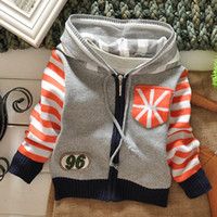 Wholesale Fashion Children Autumn Winter Sweater British Style Stars Kids Cardigan Sweater Baby Autumn Knitting Clothes